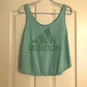 Teal Adidas Workout Tank Top